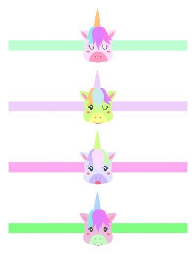 Unicorn printable Easter egg wrap