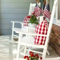 Patriotic front porch decorating ideas