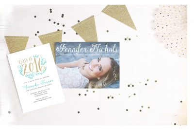 High school graduation invitations and photo card ordering