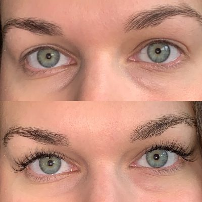 Before And After Atlanta Lash Extensions