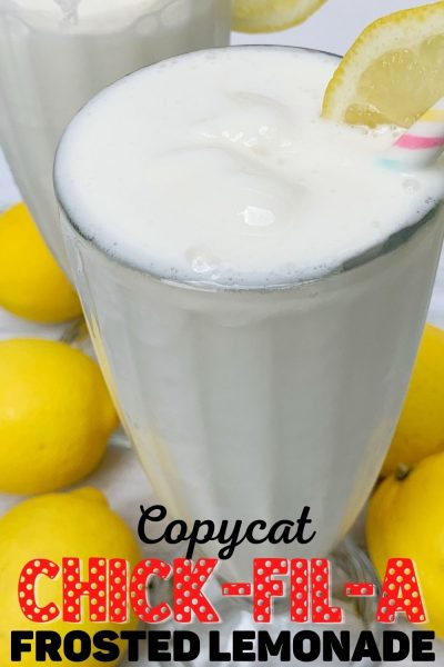 Love Chick-Fil-A Frosted Lemonades? Save money and make your own with this 3-ingredient Copycat Chick-Fil-A Frosted Lemonade recipe!