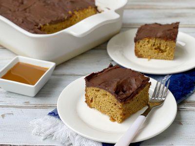 "Coffee Caramel Poke Cake ""Cuppa Joe Cake"""