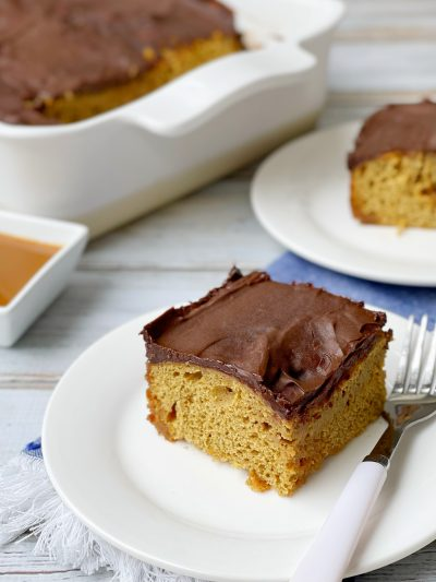 Coffee Caramel Cuppa Joe Poke Cake
