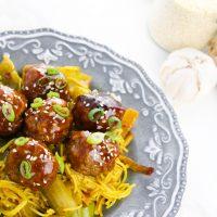 Glazed Honey Garlic Meatballs Recipe