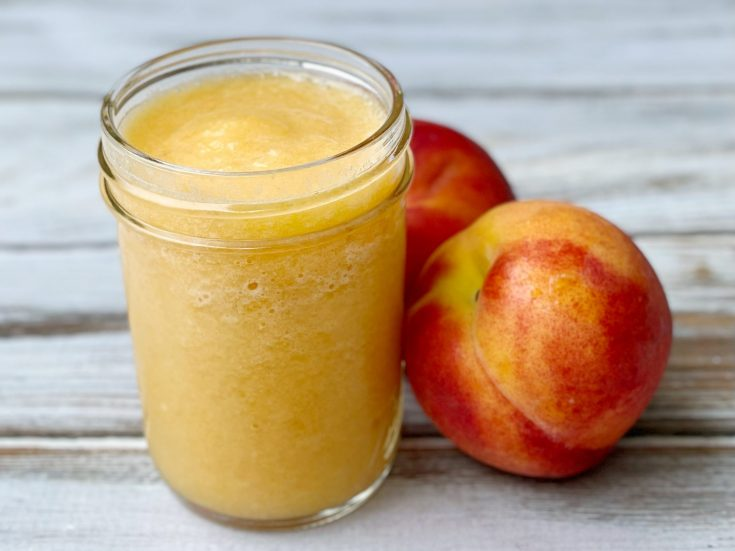 How to make homemade peach puree for cocktails and drinks