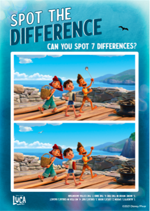 Luca Find The Difference Activity Sheet