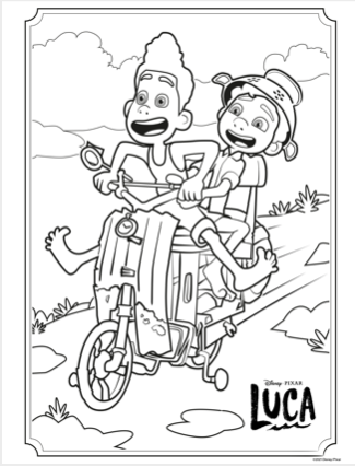 LUCA Coloring Pages Disney+