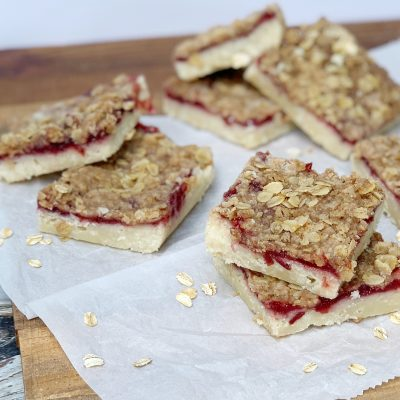 Easy Oatmeal Cranberry Bars With Streusel Topping
