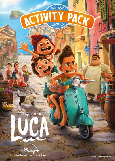 Disney Pixar Luca Movie Poster