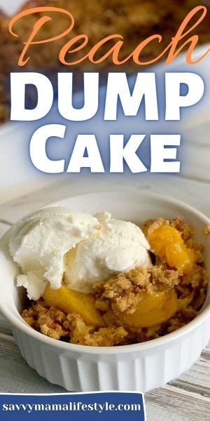 Costing only a few bucks, with just 5 ingredients, this Peach Dump Cake recipe is budget-friendly and easy. It's delicious for a quick summer dessert.