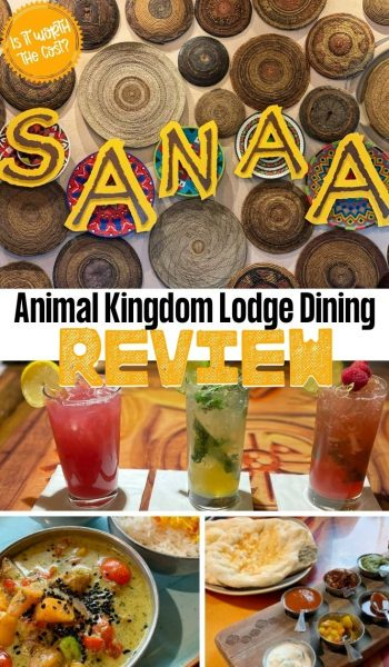 Complete review of Sanaa Animal Kingdom Lodge restaurant for lunch & dinner. Including vegetarian options, if it's worth the cost & what kids will actually eat.