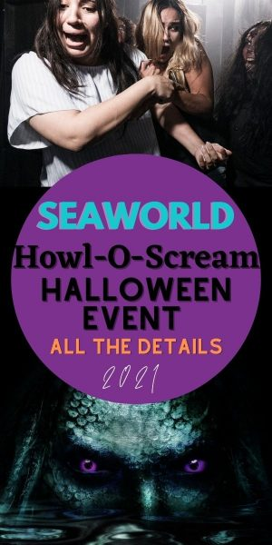 Ticket information and event details for SeaWorld Orlando's Howl-O-Scream ticketed nighttime event.