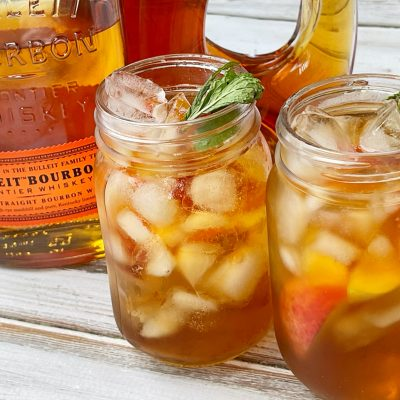 Mixed Whiskey Peach Punch Cocktail (Large Batch Recipe)