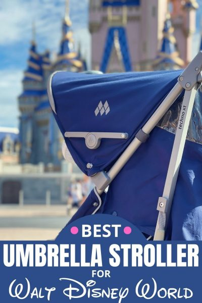 The BEST umbrella stroller for touring Disney Parks - both Disney World and Disneyland! It's light weight, folds completely and reclines.